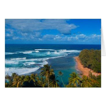 Hawaiian Themed Hawaiian Tropical Island Card