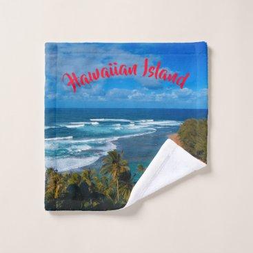 Hawaiian Themed Hawaiian Tropical Island Wash Cloth