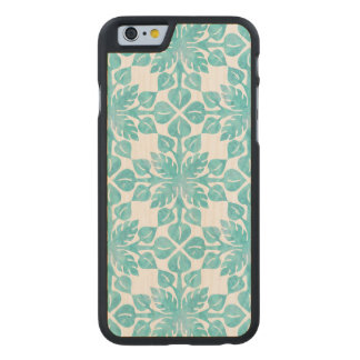 Hawaiian Tropical Leaves Watercolor Pattern Carved® Maple iPhone 6 Slim Case