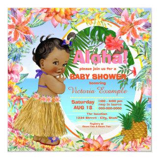Hawaiian Tropical Luau Baby Shower Card