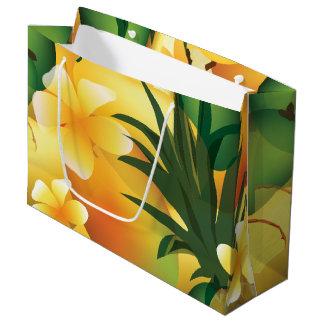 Hawaiian Tropical Luau Gift Bag Large