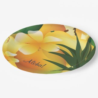 Hawaiian Tropical Luau Party 9in Paper Plate