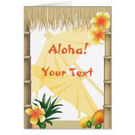 Hawaiian Tropical Luau Party Aloha Greeting Greeting Card