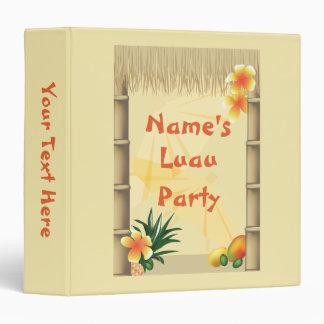 Hawaiian Tropical Luau Party Binder