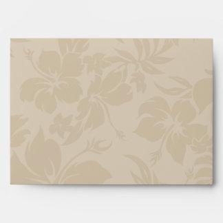 Hawaiian Tropical Orchid Matching Envelopes