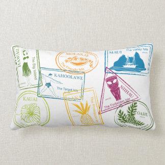 """Hawaiian Tropical Passport Stamp 13""""x20"""" Lumbar Pi Lumbar Pillow"""