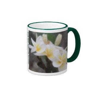 Hawaiian Tropical Plumeria Hibiscus Mugs