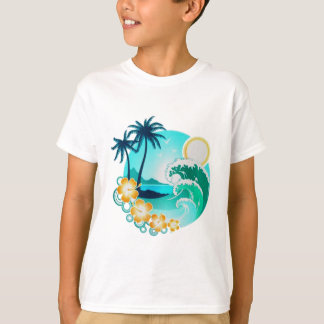 HAWAIIAN TROPICAL SURF ART T-Shirt