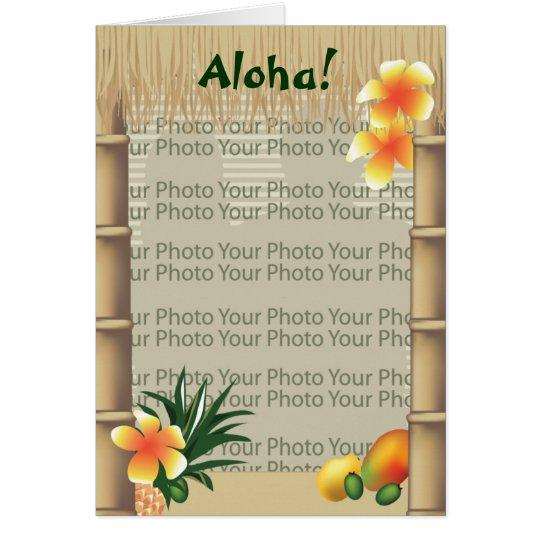 Inspiration Photo Tiki Hut: Hawaiian Tropical Tiki Hut Aloha Photo Frame Card