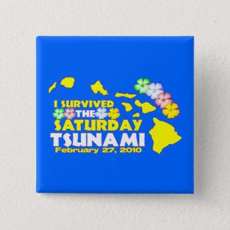 Hawaiian Tsunami Survivor Button