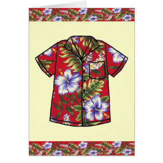 HAWAIIAN VINTAGE ALOHA SHIRT GREETING CARD
