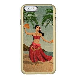 Hawaiian Vintage Hula Girl Distressed Postcard Incipio Feather Shine iPhone 6 Case