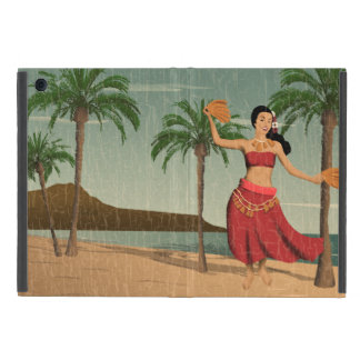Hawaiian Vintage Hula Girl Distressed Postcard iPad Mini Covers