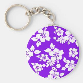 Hawaiian violeta llavero redondo tipo pin