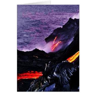 Hawaiian Volcano Card