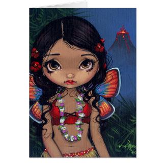 """""""Hawaiian Volcano Fairy"""" Greeting Card"""