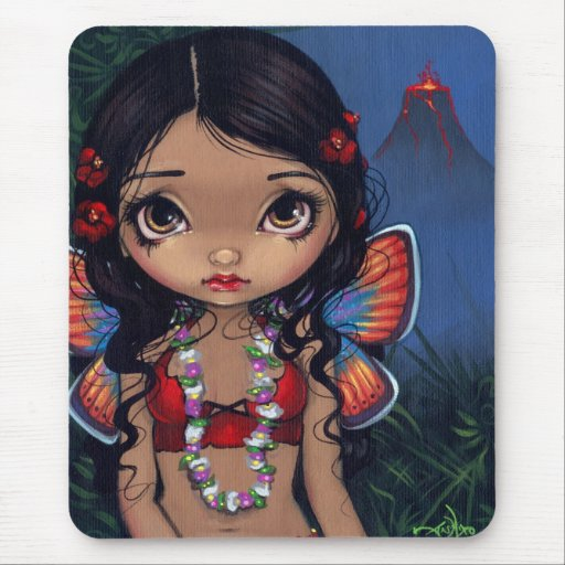 """Hawaiian Volcano Fairy"" Mousepad"