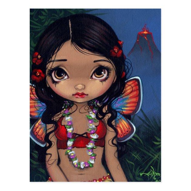 Hawaiian Volcano Fairy Tiki Hawaii art Jasmine Becket-Griffith CANVAS PRINT