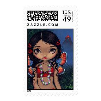 """Hawaiian Volcano Fairy"" Stamp"
