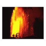 Hawaiian Volcano Lava Invitation