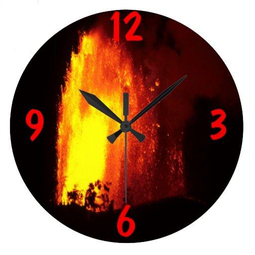 Hawaiian volcano Wall Clock