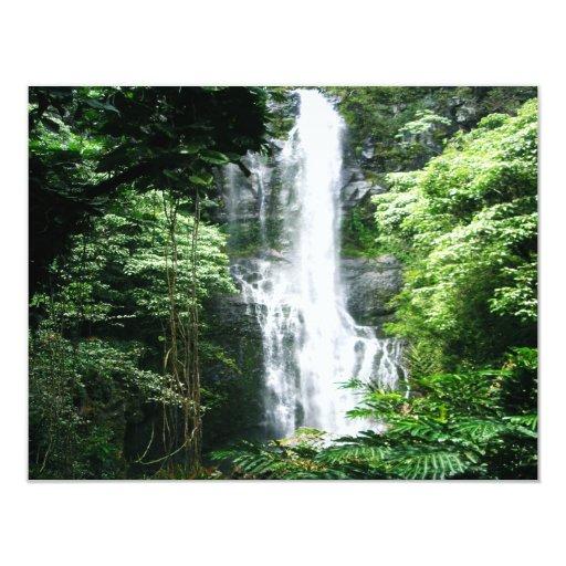 Hawaiian Waterfall Announcements Zazzle