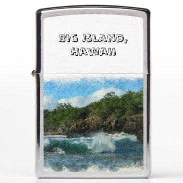 Beach Themed Hawaiian Waters Zippo Lighter