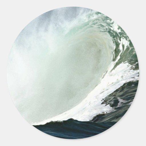 Hawaiian wave unleashes its power sticker