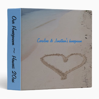 Hawaiian Wedding Heart in Sand photo album Binder