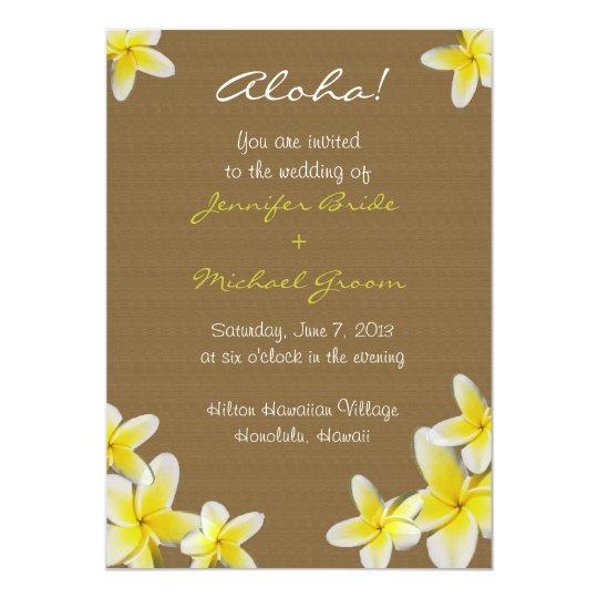 Wedding Invitations Hawaii: Hawaiian Wedding Invitation