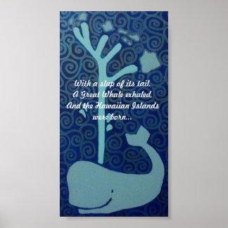 Hawaiian Whale Poster