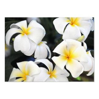 Hawaiian White Plumeria Invitation