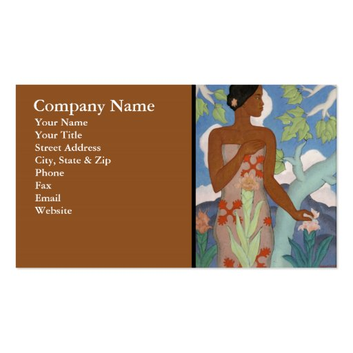 Hawaiian woman business card zazzle for Business cards for women