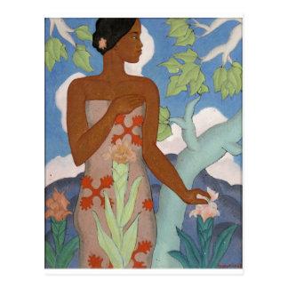 Hawaiian Woman, by Arman Manookian c. 1929 Postcard