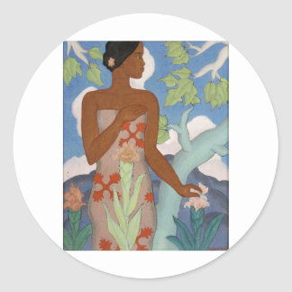 Hawaiian Woman, by Arman Manookian c. 1929 Stickers