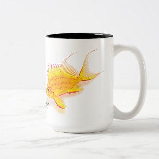 Hawaiian Yellow Anthias, Holanthias fuscipinnis Two-Tone Coffee Mug