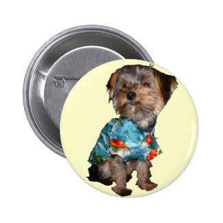 Hawaiian Yorkie Button