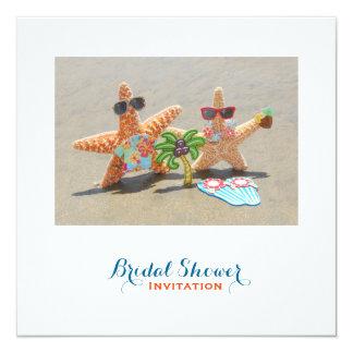 HawaiianStarfish Couple Bridal Shower Card
