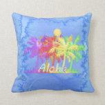 Hawaiin Aloha Palm Tree Watercolors Pillow