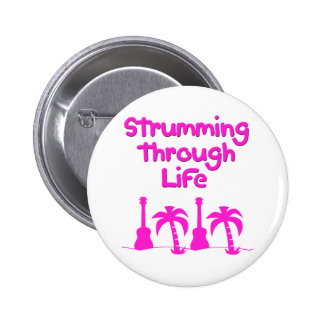 Hawaiin Ukulele tropical surf design Pinback Button