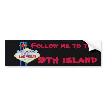 Hawaiian Themed Hawaii's Ninth Island Bumper Sticker