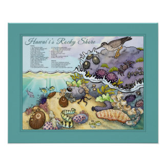Hawaii's Rocky Shore Poster
