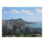 Hawaii's Waikiki and Diamond Head Print