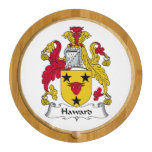 Haward Family Crest Round Cheeseboard