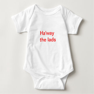 Ha'way the lads in red Creeper/Babygro Baby Bodysuit
