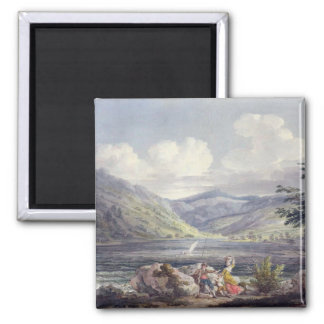 Haweswater, Westmoreland, c.1795 (w/c over graphit 2 Inch Square Magnet