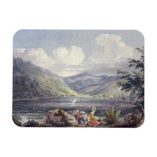 Haweswater, Westmoreland, c.1795 (w/c over graphit Rectangular Photo Magnet