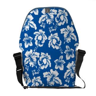 Hawiann Floers Blue Messenger Bag