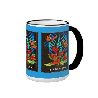 Hawiian Anthuriums (Personalized Mug) Ringer Mug