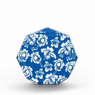 Hawiian Blue Flower Pattern Acrylic Award